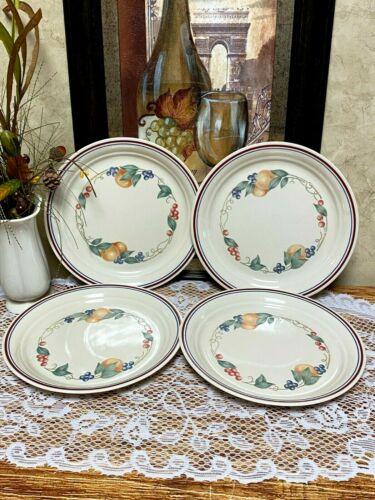 """Corelle Abundance Luncheon/Lunch Salad Plates  8 1/2"""" (Set of 4) Excellent!!"""