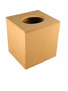 BOUTIQUE TISSUE BOX COVER MDF BLANK READY TO DECORATE FROM S & J WOODCRAFT LTD