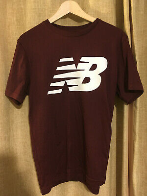 New Balance Men's Burgundy T-Shirt - Medium