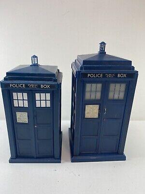 Lot of 2 TARDIS Lights Up & Sound 1963 BBC Doctor Who 1st Doctor Who Tardis