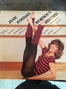 Jane Fonda's workout record used LP