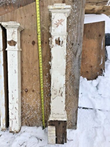 """Antique Newell Post Douglass Fir?  Peeling paint about 46"""" 6x6"""