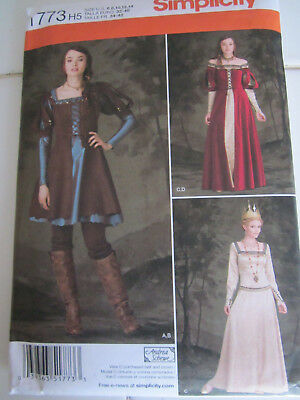 Simplicity 1773 Snow White Hunter Queen Dress PATTERN Sizes 6-8-10-12-14 UNCUT
