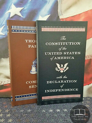 NEW Constitution United States & Common Sense by Thomas Paine Bonded Leather
