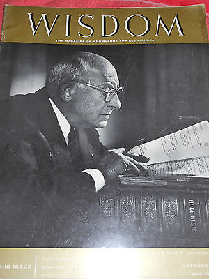 WISDOM MAGAZINE OCTOBER 1956 CECIL B. DE MILLE KING OF (Eyeglasses Magazine)