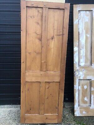 Pine Door 1 1/8 Thick - 27 1/2 Ish X 75 3/8 Ish Needs TLC SeePics