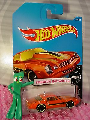 '81 CAMARO #361✰orange Chevy;yellow✰Camaro Fifty✰2017 i Hot Wheels case Q/2018 A