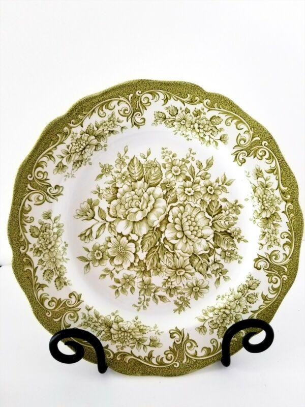 (6) Royal Staffordshire J & G Meakin Avondale England Green Dinner Plates