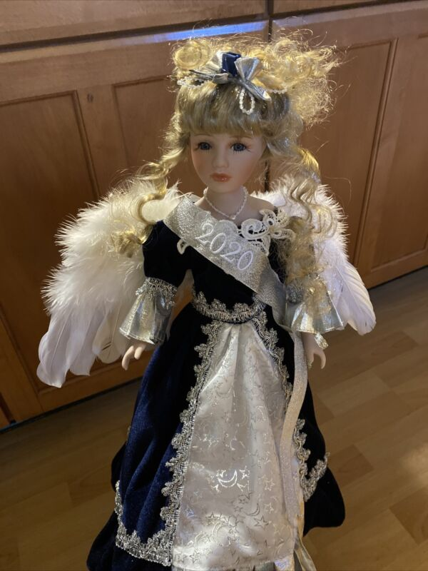 Commemorative 2020 Sapphire Dress Angel Porcelain Doll