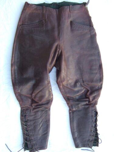 WW2 GERMAN LUFTWAFFE leather PILOT BREECHES 1938-1940 Battle of Britain VINTAGE