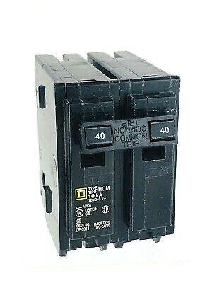 Square D 40a Homeline Hom240 Circuit Breakers 120240v 10ka