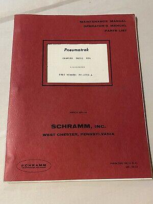 Vintage Schramm Rotadrill Well Drill Rig Manual Parts List Pneumatrak Crawler