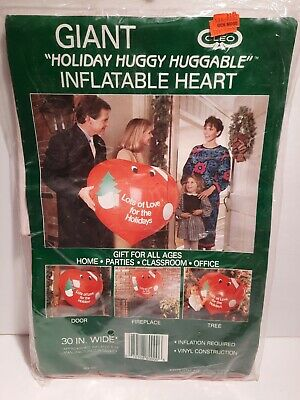 "Vintage Cleo Christmas 30"" Giant Huggy Huggable Inflatable Heart Gibson"
