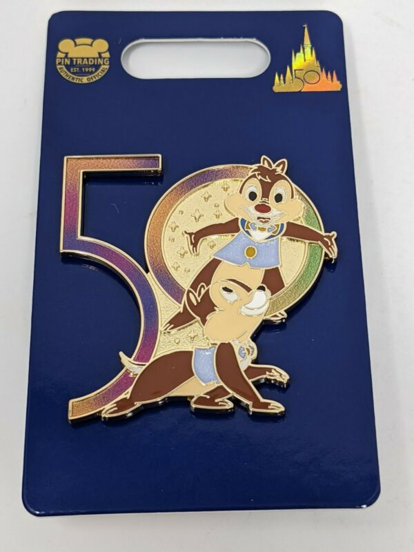WDW 50th Anniversary Chip and Dale Walt Disney World Pin
