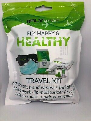 New iFLYsmart Fly Plane Healthy Travel Kit Earplugs Sleep Face Mask Headrest