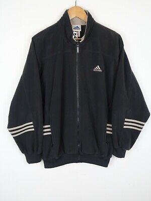 Adidas Vintage 90s velour lgo track suit top zip jacket  SZ LARGE (C321)