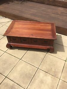 Wooden coffee table Tempe Marrickville Area Preview