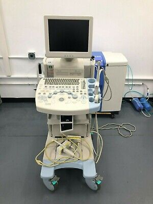 Used Hitachi Medical Systems America Hi Vision 5500 Ultrasound With 3 Probes