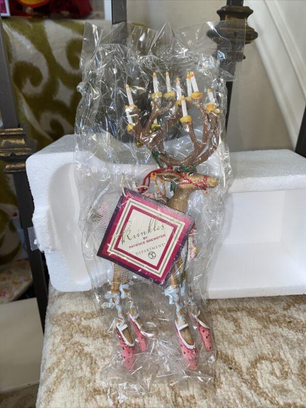 "Patience Brewster Dancer Dash Away 7"" Reindeer Figure Or Ornament"
