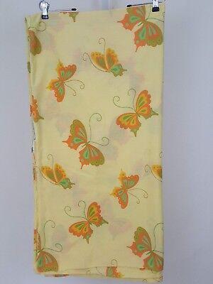 Damen Pepperell Hanae Mori Gelb Grün Orange Schmetterling Twin Bettbezug (Orange Bettbezug Twin)