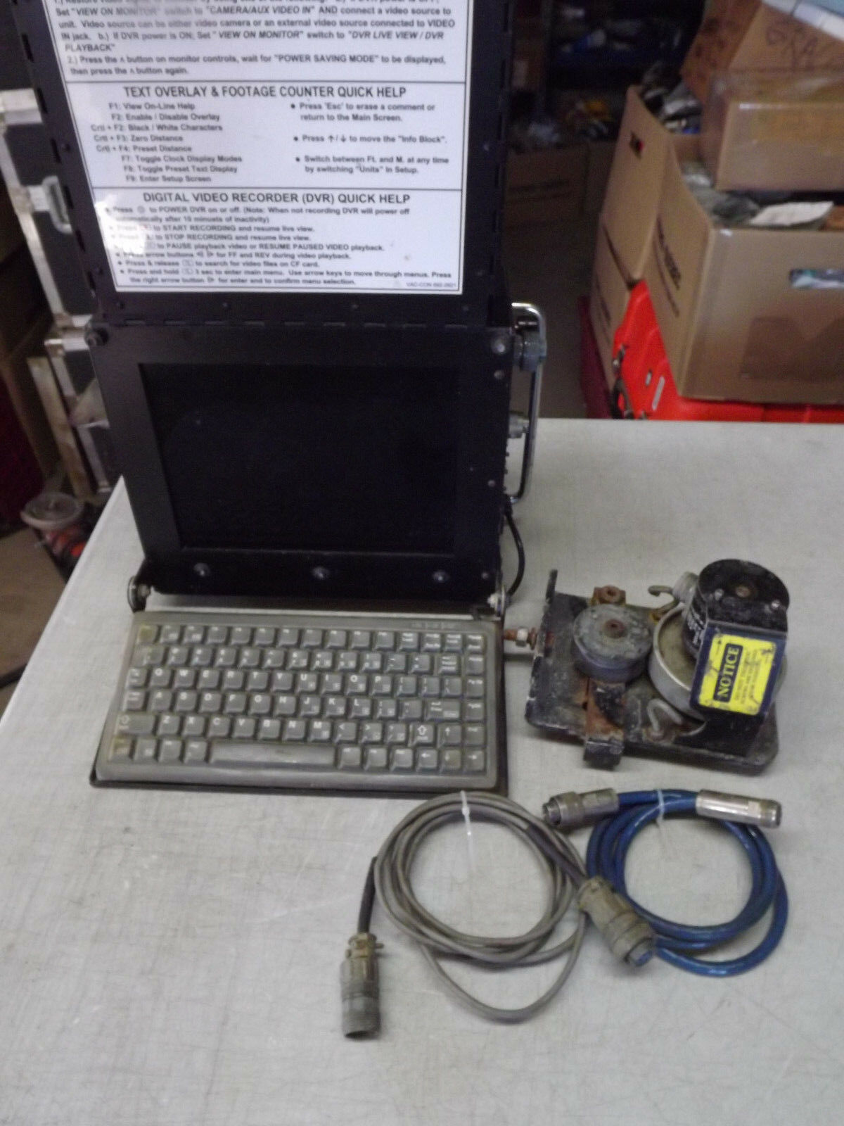 Vac-Con Inspection Camera Monitor PC with Recorder and Encoder from Vacuum Truck