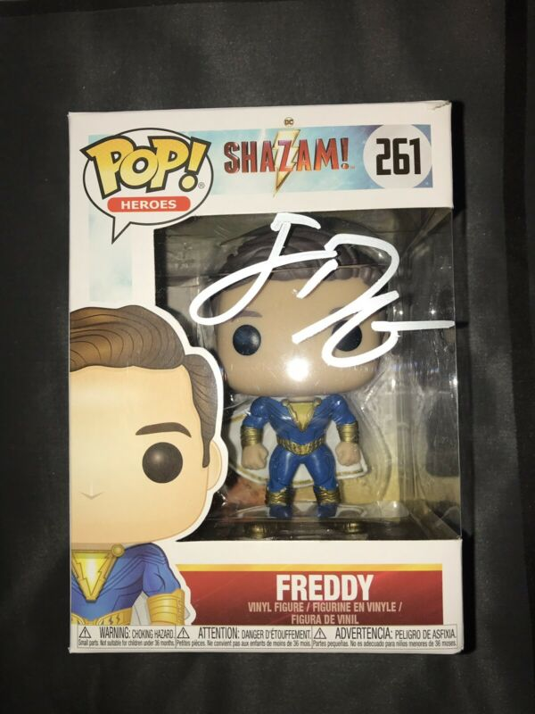 JACK DYLAN GRAZER SIGNED AUTOGRAPHED SHAZAM FREDDY FUNKO POP #261 EXACT PROOF #2