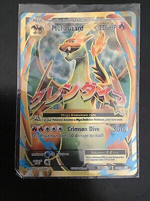 M Mega Charizard EX 101/108 Full Art Ultra Rare XY Evolutions Pokemon Card