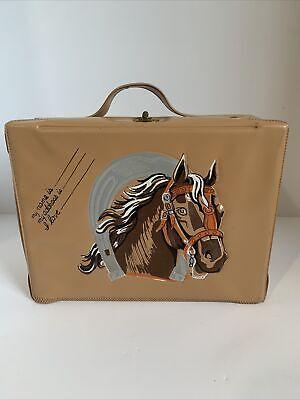 Vintage 1950s Western Horse Vinyl Lunchbox
