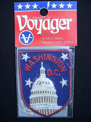 ⭐️ Vintage WASHINGTON DC Capitol Building PATCH Dome State Souvenir Travel -