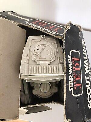 vintage star wars AT-ST scout walker with battered box