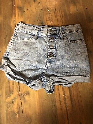 Girl's Abercrombie Kids LT Blue Denim Shorts sz 12 Stretch A8*