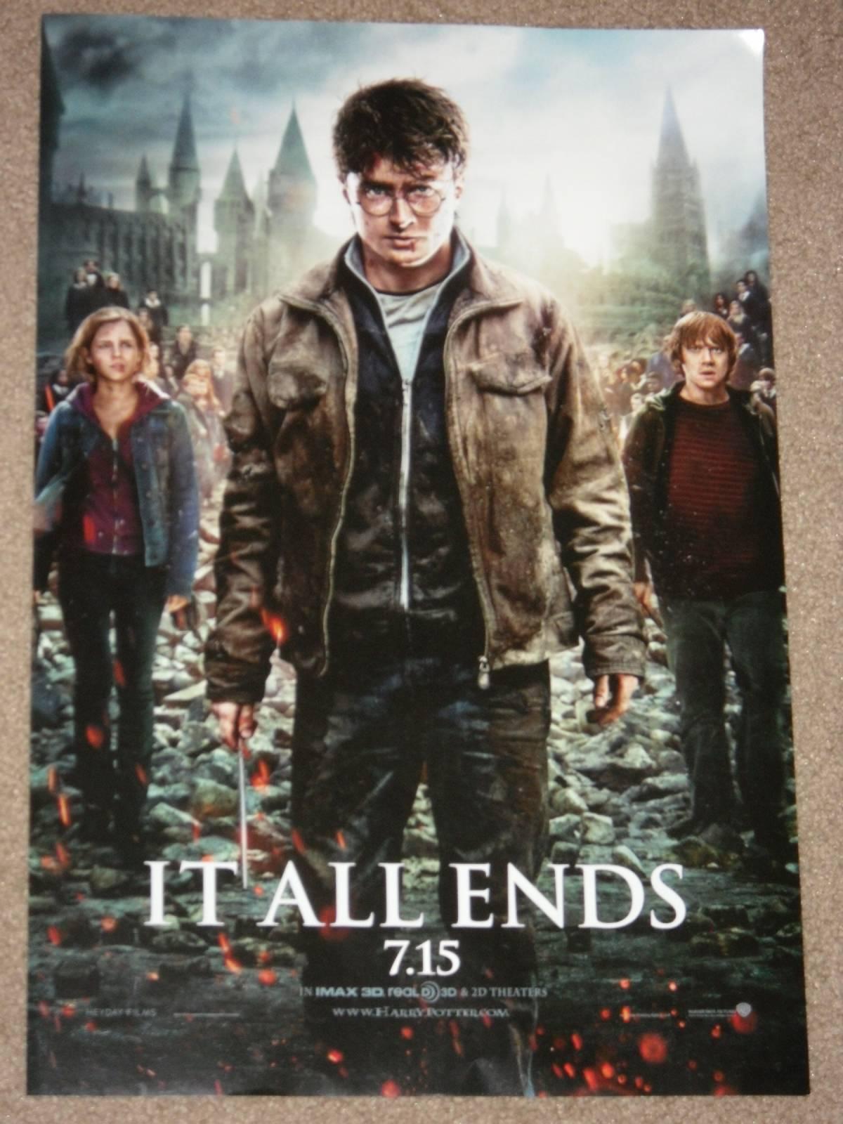 Harry Potter Deathly Hallows Pt 2 11 5x17 Movie Poster Ebay