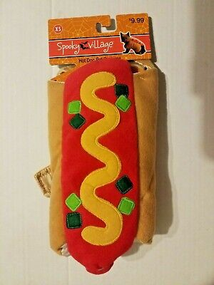 Spooky Village Hot Dog Halloween Pet Costume Size XS 9
