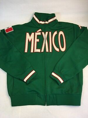 Kappa Mexico Track Jacket Men's L Zipper Green Logo Flag Spell out