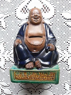 Vintage Chinese Mudman God Of Prosperity Bank Very Rare Buddha 5  X 3 1 2