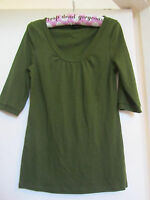 M&s Green Scoop Neck Cotton Half Sleeve Top In Size 12 - - marks and spencer - ebay.co.uk