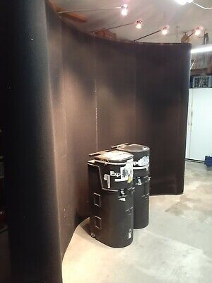 Trade Show 10 Pop Up Curved Wall Display W Shipping Case