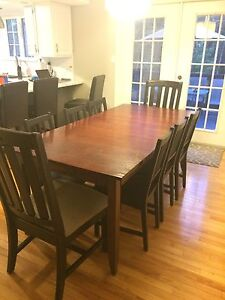 8seat wood table for sale