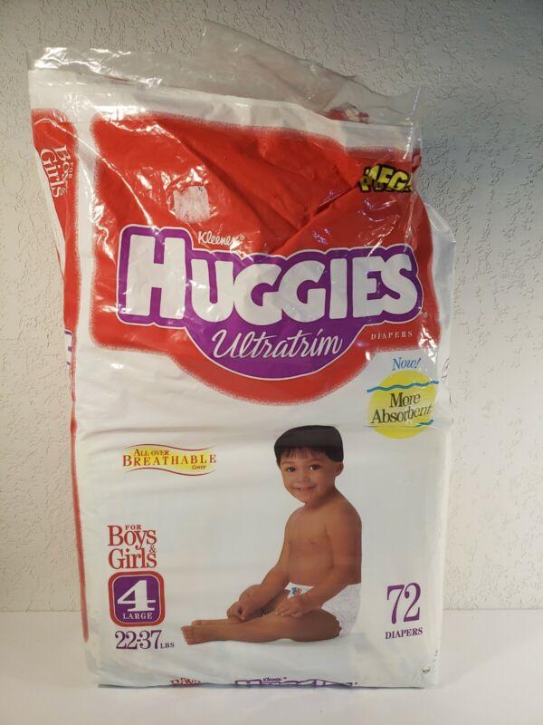 1998 Huggies Ultratrim 35pk. Vintage Diapers Size 4 Open Package