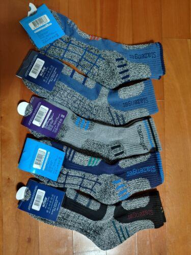 5 Pairs Slazenger Men Socks for Climbing/Hiking/Outdoor Sports Coolmax