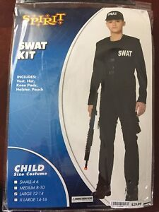 SWAT costume youth large 12-14 (fits smaller)