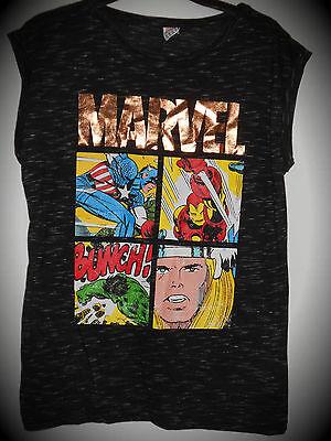 NEU Marvel Comics Ladies Damen T-Shirt Avengers Hulk Captain America Iron Thor