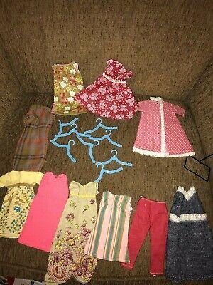 """VTG 11 - 12"""" girl doll homemade barbie midge clothes - dresses, pants, houecoat"""