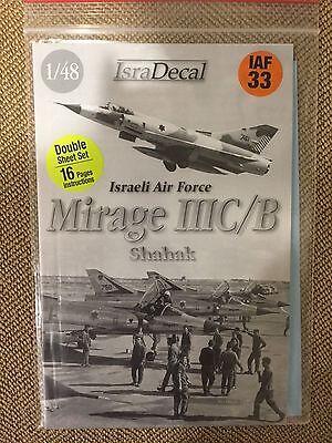 IsraDecal Israeli Mirage IIIC/B Shahak decals (2 sheets) 1/48 IAF 33 (Rare)