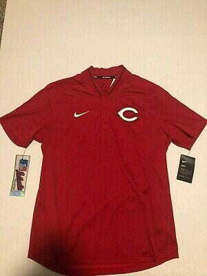 Cincinnati Reds  Nike Dri-Fit Men's MLB Baseball Red Polo Shirt  Size Meidum -