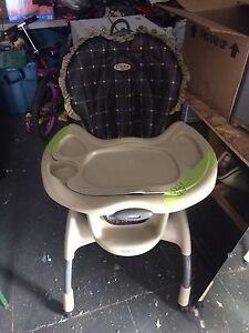 High chair.