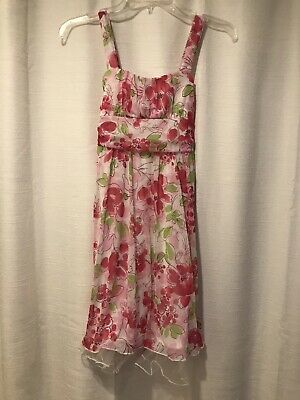 Ruby Rox Light Pink Flowered Girls Dress Size L