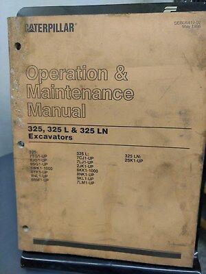 Cat Caterpillar 325 L Ln Excavator Operation Operator Maintenance Manual
