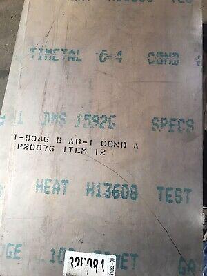 .125 X 16.25 X 34.75 6al-4v Titanium Sheet Mill Timet Domestic