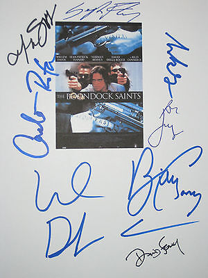 The Boondock Saints Signed Movie Script X8 Willem Dafoe Flanery Connolly reprint